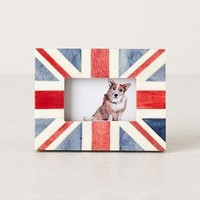 Union Jack Frame by Anthropologie in Red Motif Size: