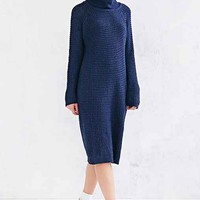 BDG Cowl-Neck Sweater Midi Dress-