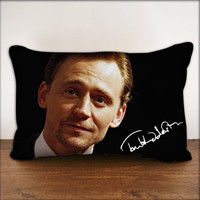 "Handsome Tom Hiddleston Loki 2 With Signature - Pillow Cover in Size 18""x18"" and 30""x20"""