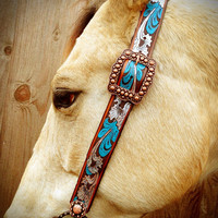 Belt Headstall- painted