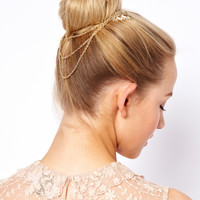 ASOS | ASOS Leaf Hair Comb with Hanging Chain at ASOS