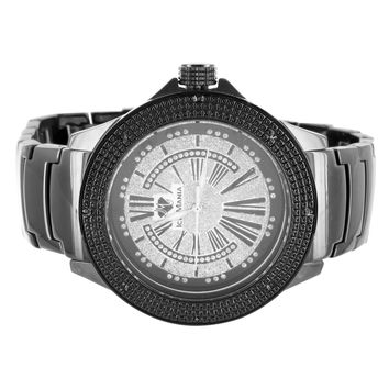 Vintage Style Iced Out Roman Numeral Dial Ice Mania Fashion Watch