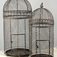 """Large Wired Bird Cages set of two 30"""" & 25"""""""