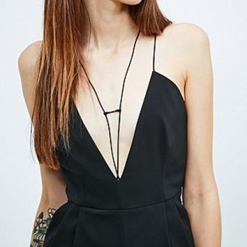 Light Before Dark Strap Front Jumpsuit in Black - Urban Outfitters