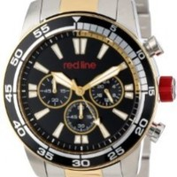 red line Men's RL-60009 Cruiser Chronograph Black Dial Two Tone Stainless Steel Watch
