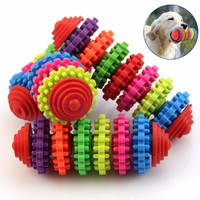 Free shipping Colorful Rubber Pet Dog Puppy Dental Teething Healthy Teeth Gums Chew Toys Tool-Y103