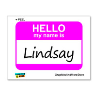 Lindsay Hello My Name Is Sticker