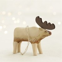 Pottery Moose Ornament