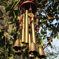 2017 Outdoor Antique Amazing Grace Deep Resonant 4 Tube Windchime Chapel Church Bells Wind Chimes Door Hanging New Year Decor