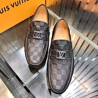 louis vuitton men fashion boots fashionable casual leather breathable sneakers running shoes 110