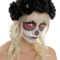 Black Rose Day Of The Dead Stretchy Headband