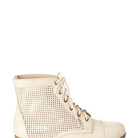 FOREVER 21 Perforated Combat Boots