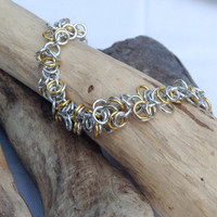 Siver and Gold Shaggy Bracelet - Ready to Ship
