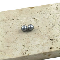 Extreme Pearl Earrings Silver