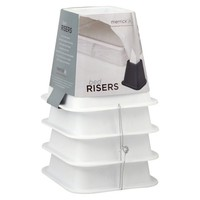 Bed Risers Set of 4 - White - Room Essentials™