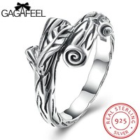 Pagan Jewelry Branches Rings Pure 925 Sterling-Silver