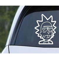 Rick and Morty - Rick's Head Die Cut Vinyl Decal Sticker