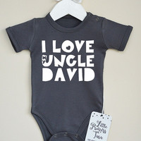 I Love My Uncle Baby Clothes. Personalized Baby Bodysuit. Best Uncle Ever. Baby Girl or Baby Boy Clothes. Infant Baby Shirt.