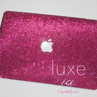 Macbook 13' case made w Swarovski Elements Crystals. 16ss Any Color