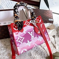 LV New Rainbow Letter Printing Women's Handbag Shopping Bag Crossbody Bag