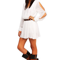 Pleated+Swinger+Romper