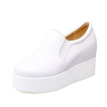 Casual Platform Wedges Heels Shoes for Women 9954