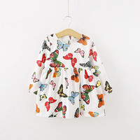 Stylish Baby Children Tunic Dress Toddler Girl Long Sleeve Butterfly Outfits TIML66