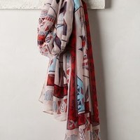 Wellspring Scarf by Anthropologie Blue Motif One Size Scarves
