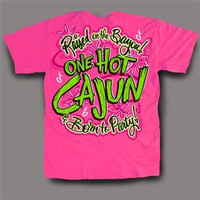 Sweet Thing Funny Hot Cajun Party Neon Pink Girlie Bright T-Shirt