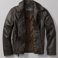 Leather Journeyman Bomber® Jacket | Eddie Bauer