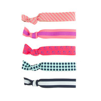 Girls' knotted hair ties five-pack - jewelry & accessories - Girl's new arrivals - J.Crew
