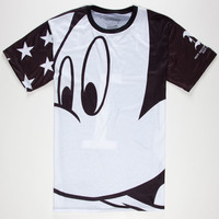 Neff Disney Collection Mickey Close Up Mens T-Shirt Black  In Sizes