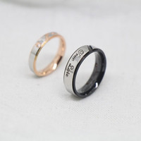 2pcs-Free Engraving,black rings,Simple Ring,promise rings,couple rings,wedding bands