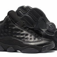 Best Quality Air Jordan Retro 13 All Black 3D Eye Black Metallic 13s man basketball shoes