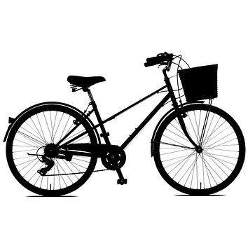 Black Bicycle with Basket Waterproof Temporary Tattoos Lasts 3 to 4 days Choose Small, Medium or Large Sizes