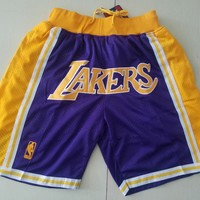 Lakers Vintage Embroidered Pocket Zipper Ball Pants