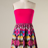 Play it Again Dress - Hot Pink