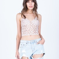 Cami Lace Crop Top