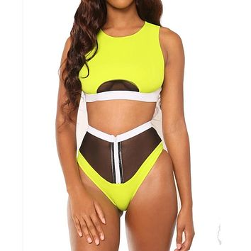 High Waist Swimsuits Two-piece