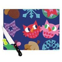 "Jane Smith ""Winter Repeat"" Blue Navy Cutting Board"