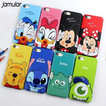JAMULAR Cartoon Minnie Mickey Mouse Donald Daisy Duck Soft Case for iPhone X XS MAX XR 6 6S Plus Cover For iPhone 7 8 Plus Cases