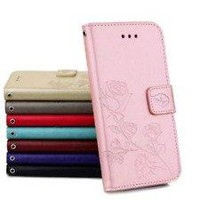 Luxury Flower Flip Leather Wallet Card Case Slot Cover With Strap For IPhone 8 Plus