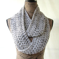 Ready To Ship New Tweed Ivory Black Brown Oatmeal Cowl Scarf Fall Winter Women's Accessory Infinity
