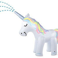 BigMouth Inc. Ginormous Inflatable Magical Unicorn Yard Summer Sprinkler, Stands Over 6 Feet Tall, Perfect for Summer Fun