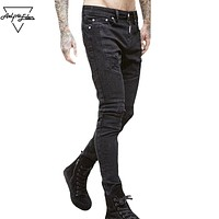 Hole Straight Destroyed Jeans Men Casual Hip Hop Ripped Jeans Denim Pants