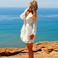 TOP OF THE WORLD LACE & FRINGE DRESS