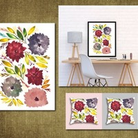 Hand painted flowers1d