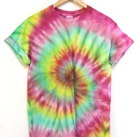 ONE OF A KIND Tie Dye Unisex Tee #2 Size Medium