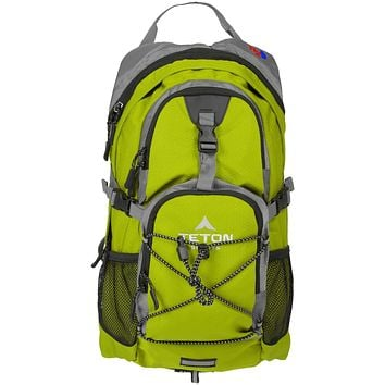TETON Sports Oasis 1100 Hydration Pack; Free 2-Liter Hydration Bladder; For Backpacking, Hiking, Running, Cycling, and Climbing Bright Green