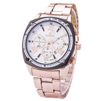 Mens Steel Strap Watch Fashion Sports Casual Watches Best Christmas Gift